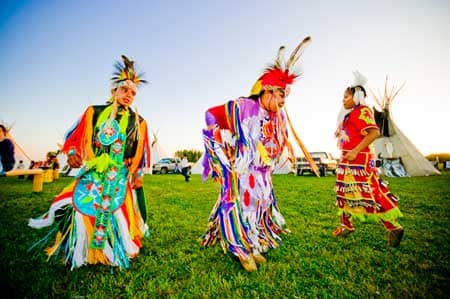 Jingle Dance and teepees